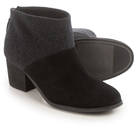 TOMS Leila Wool Felt Ankle Boots (For Women) in Black