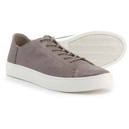 TOMS Lenox Sneakers - Leather (For Women) in Pewter - Closeouts