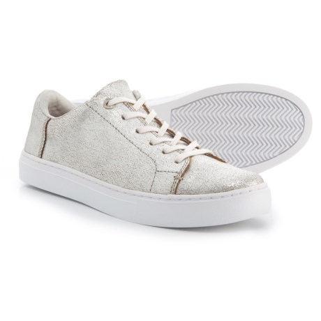 TOMS Lenox Sneakers - Leather (For Women) in Silver