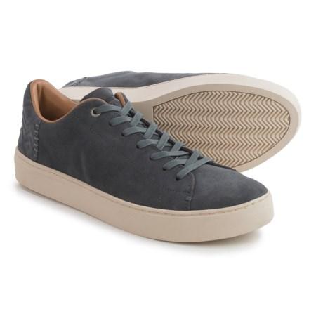 TOMS Lenox Suede Sneakers (For Men) in Grey Suede