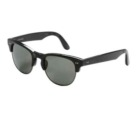 TOMS Lobamba Sunglasses - Polarized in Shiny Black Matte Black Shiny Black/Grey - Closeouts