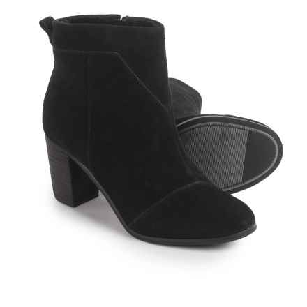 TOMS Lunata Ankle Boots - Suede (For Women) in Black Suede - Closeouts