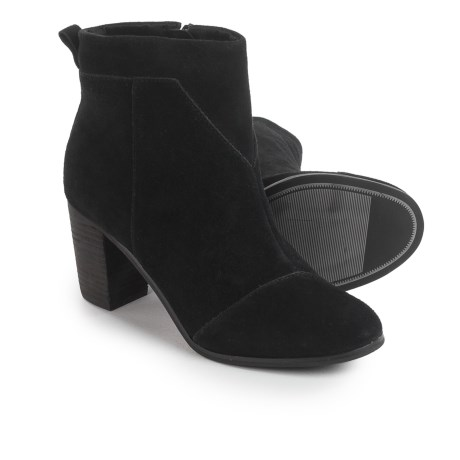 TOMS Lunata Ankle Boots - Suede (For Women) in Black Suede