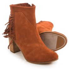 TOMS Lunata Ankle Boots - Suede (For Women) in Cognac - Closeouts