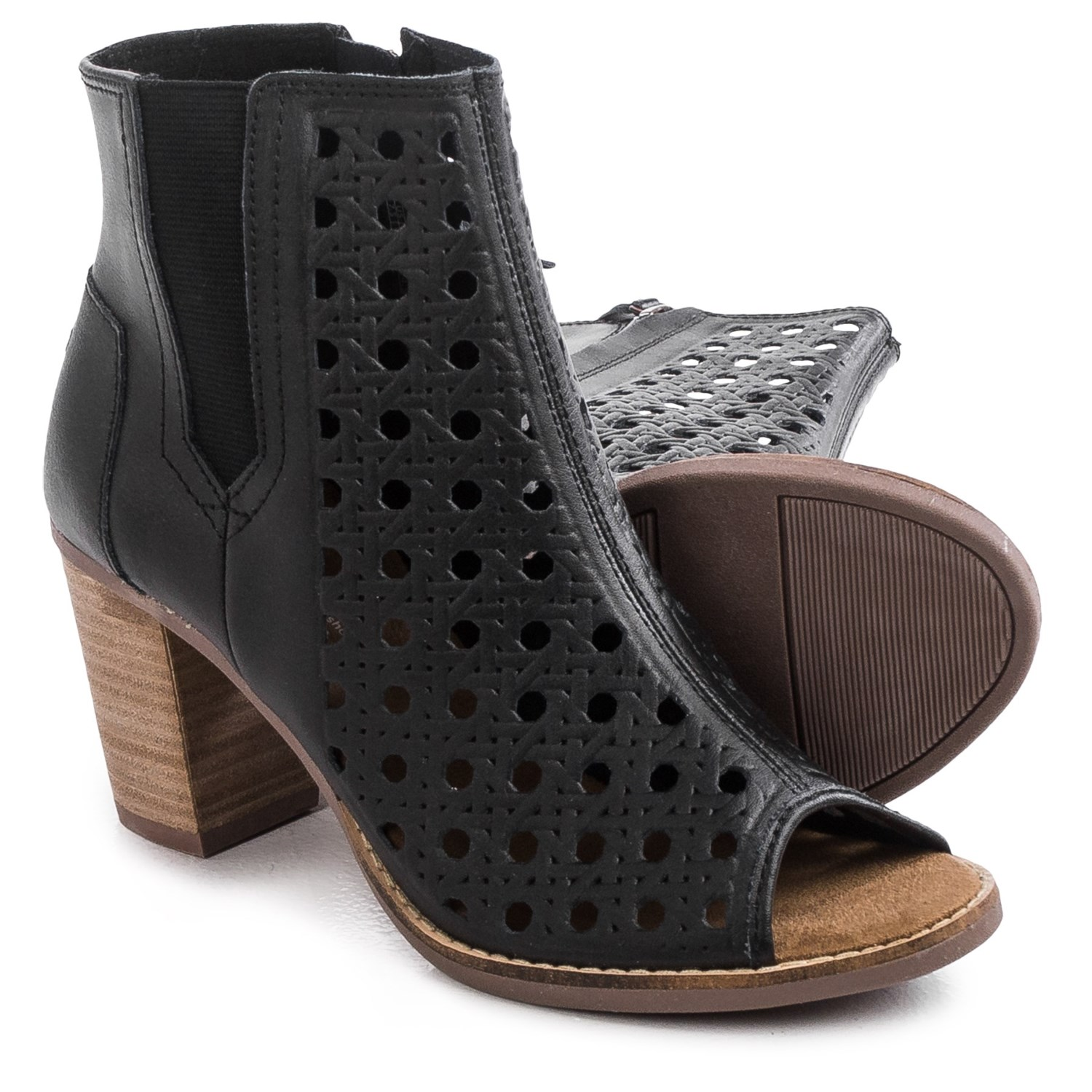 toms majorca leather ankle boots for