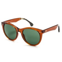 TOMS Margeaux Sunglasses (For Women) in Auburn Whisky Tortoise/Bottle Green - Closeouts