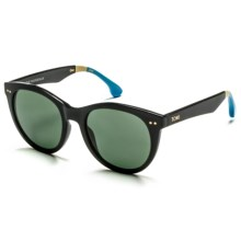 TOMS Margeaux Sunglasses - Polarized (For Women) in Black Light Blue/Green Grey - Closeouts