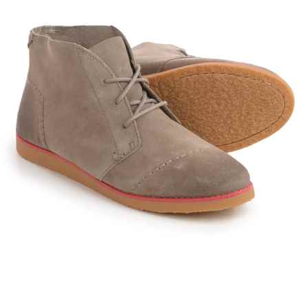 TOMS Mateo Chukka Boots - Suede (For Women) in Desert Taupe - Closeouts