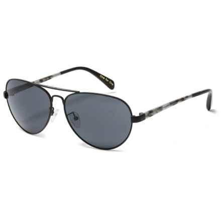 TOMS Maverick 201 Sunglasses in Matte Gunmetal/Matte Black/Dark Grey - Closeouts