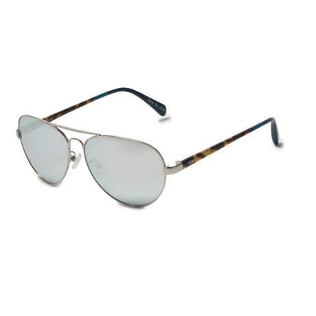 TOMS Maverick 201 Sunglasses - Large Fit in Silver-Blonde/Deep Blue Chrome