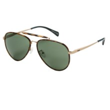 TOMS Maverick 401 Sunglasses in Honey Tortoise Midnight Blue/Green Grey - Closeouts