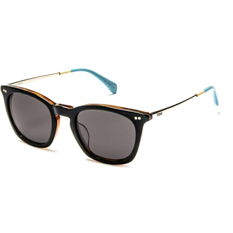 TOMS Maxwell Sunglasses in Black Silver Light Blue/Green Grey