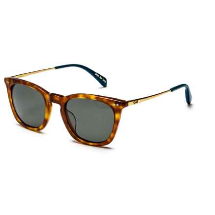 TOMS Maxwell Sunglasses in Honey Tortoisegold Midnight Blue/Green Grey - Closeouts