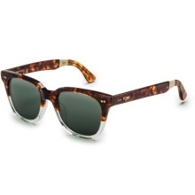 TOMS Memphis 201 Sunglasses - Polarized in Tortoise Crystal Fade Honey Tortoise/Green Grey - Closeouts