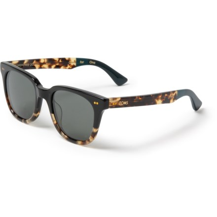 4b93b61687fe TOMS Memphis Sunglasses - (For Women) in Black Tortoise Fade/Midnight Black  Smoke