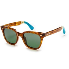 TOMS Memphis Sunglasses in Tortoise Light Blue/G15 - Closeouts