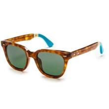 TOMS Memphis Sunglasses in Tortoise Light Blue/G15 - Closeouts