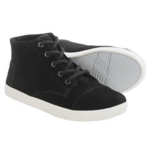 TOMS Paseo High Shoes - Suede (For Women) in Black - Closeouts