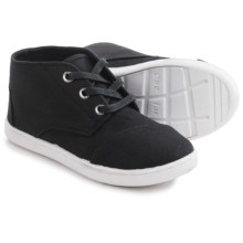 TOMS Paseo Mid Sneakers - Canvas (For Little and Big Kids) in Black - Closeouts