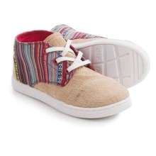 TOMS Paseo Mid Sneakers - Canvas (For Little and Big Kids) in Natural Burlap - Closeouts
