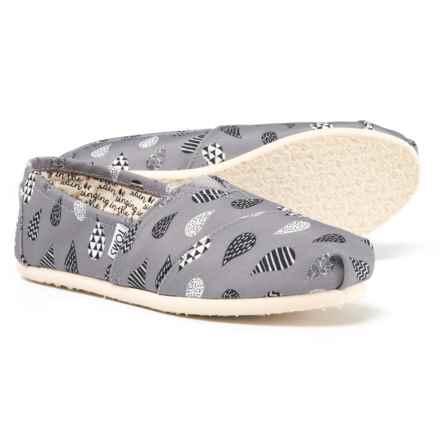 TOMS Rain Drop Alpargata Canvas Shoes - Slip-Ons (For Women) in Grey - Closeouts