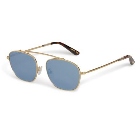 f0817f85d4e2 TOMS Riley Mirror Sunglasses (For Women) in Satin Gold/Blue