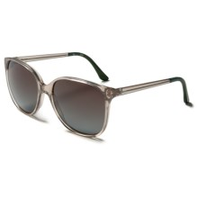 TOMS Sandela Sunglasses (For Women) in Champion Crystal Deep Green/Brown Gradient - Closeouts