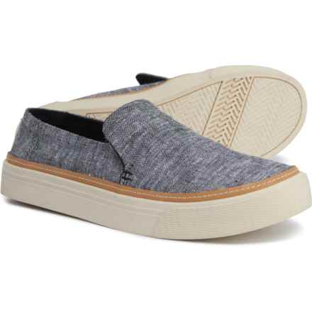 TOMS Sunset Chambray Sneakers (For Women) in Black