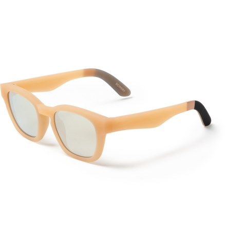 2d720ac85377 TOMS Traveler Bowery Mirror Sunglasses (For Women) in Matte Nude/Ivory