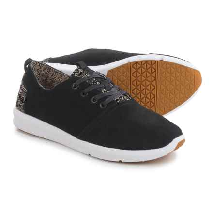 TOMS Viaje Sneakers - Suede (For Men) in Black Suede - Closeouts