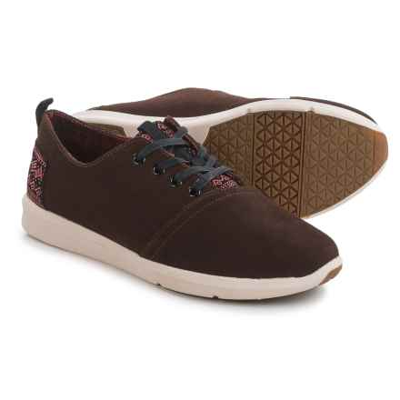 TOMS Viaje Sneakers - Suede (For Men) in Dark Earth Suede - Closeouts