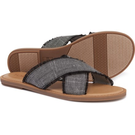 886b1e56bd23 TOMS Viv Textured Chambray Sandals (For Women) in Black