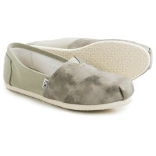 TOMS Washed Canvas Classic Shoes - Slip-Ons (For Women) in Agate Green - Closeouts