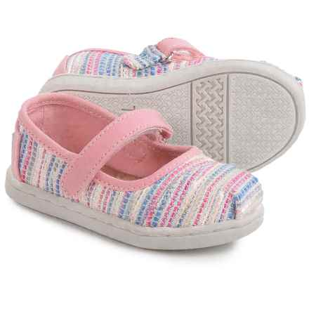 TOMS Woven Mary Jane Shoes (For Toddlers and Little Girls) in Pink Metallic - Closeouts