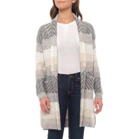 Image of Tonal Stripe Cardigan Sweater (For Women)