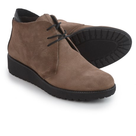 Toni Pons Garda Chukka Boots - Suede (For Women) in Taupe/Black