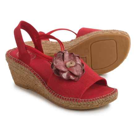 Toni Pons Isabel Espadrille Wedge Sandals (For Women) in Red - Closeouts