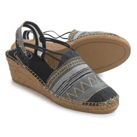 Toni Pons Tamara Espadrille Sandals - Wedge Heel (For Women) in Black - Closeouts