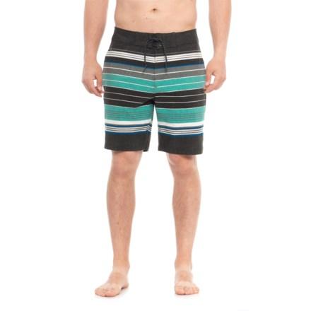 371a3d7837 Tony Hawk Striped Boardshorts - UPF 50 (For Men) in Black/Green -