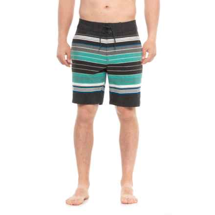 Tony Hawk Striped Boardshorts - UPF 50 (For Men) in Black/Green - Closeouts