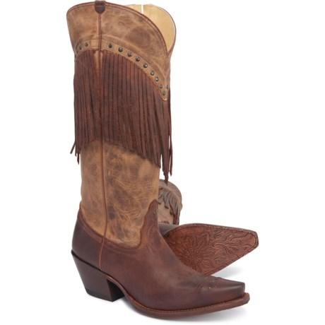 "26e5c21dd Tony Lama 15"" Paloverde Fashion Western Boots - Leather (For Women) in Café"