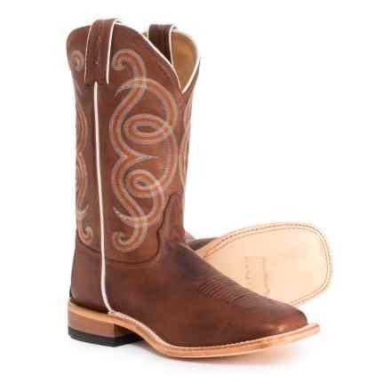 "Tony Lama Adina Cowboy Boots - 11"", Square Toe (For Women) in Oak Tiberiooak Tiberio - Closeouts"