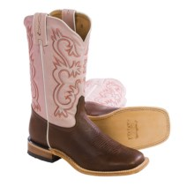 Tony Lama Americana Cowboy Boots - Square Toe (For Women) in Pecan - Closeouts
