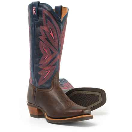 "Tony Lama Cafe Rio 3R Cowboy Boots - 13"", Round Toe (For Women) in Navy - Closeouts"