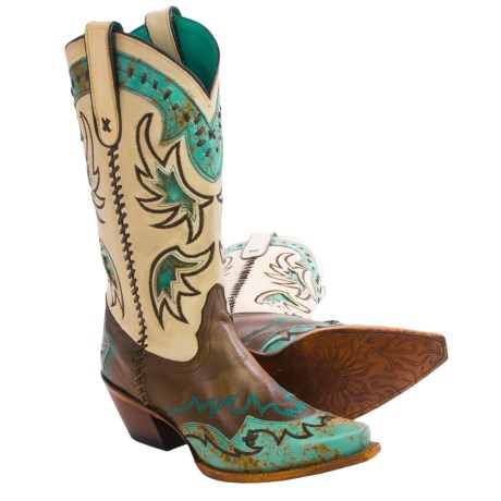 Tony Lama Cassidy Cowboy Boots Snip Toe (For Women)