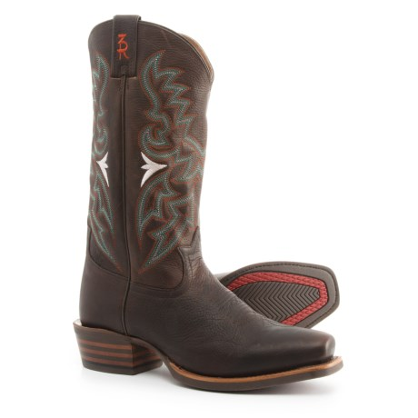"Tony Lama Frio 3R Cowboy Boots - 13"", Snip Toe (For Men) in Chocolate"