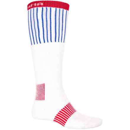 Tony Lama Great American Cowboy Boot Socks - Over the Calf (For Men) in White/Red/Blue - Closeouts