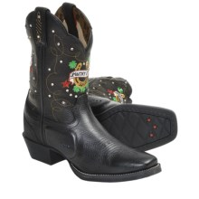 Tony Lama Lucky Star Boots - Square Toe (For Women) in Black - Closeouts
