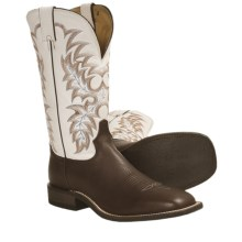 Tony Lama MH Dress Cowboy Boots - Square Toe (For Men) in Western Brown - Closeouts