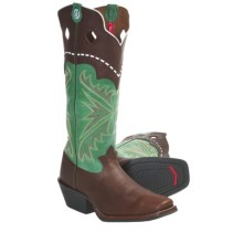 Tony Lama MK Buckaroo Cowboy Boots - Square Toe (For Men) in Saddle - Closeouts